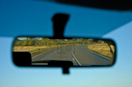 Photo for Car mirror during the outback travelling - Royalty Free Image