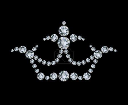 Crown and diamonds