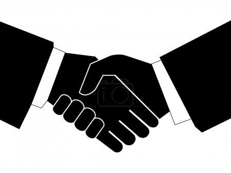 Business handshake - vector