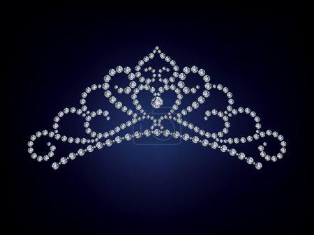 The Diamond tiara isolate object