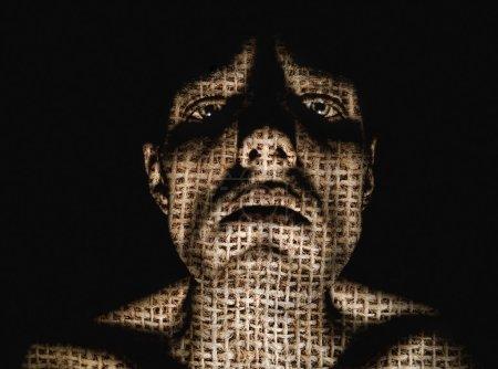 Photo for Sad abstract dark portrait - Royalty Free Image