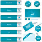 Web elements collection vector