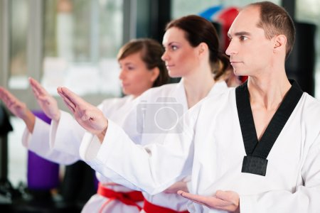 in a gym in martial arts