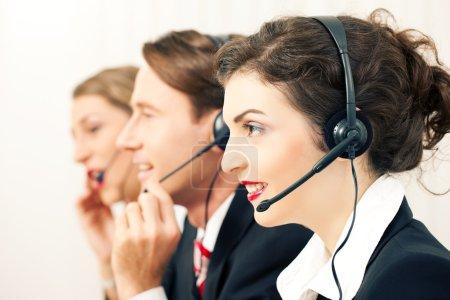 Group of three customer care