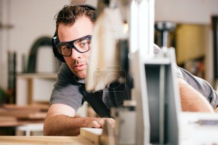 Carpenter working on an