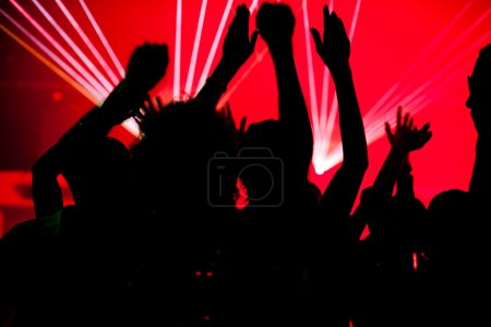 Dance action in a disco club