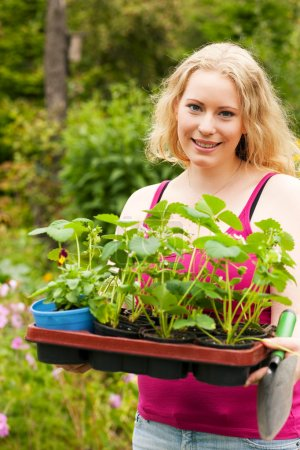 Gardening - Young blonde