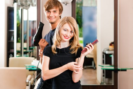 Two hairdresser - man and
