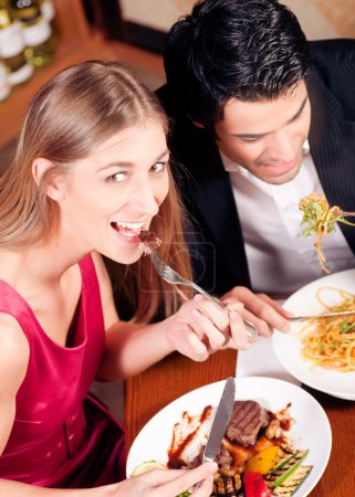 Waitress in a fancy restaurant