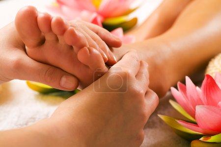 Woman enjoying a feet