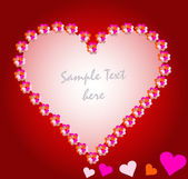 Pohlednice s láskou vektorové ilustrace