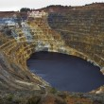 Pyrite mine open pit corta Atalaya in Rio Tinto, S...