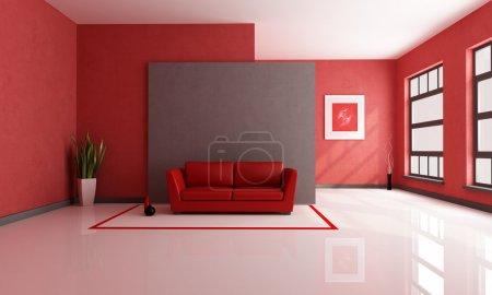 Red and brown lounge
