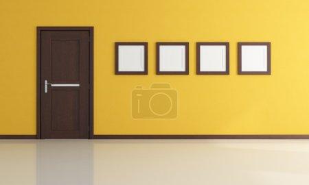 Empty yellow room
