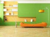Zelené a oranžové salonek