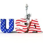 Usa logo with statue of liberty- digital art work...
