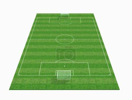 3d empty soccer field