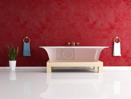 Photo pour Salle de bain classique avec baignoire à la mode - image libre de droit
