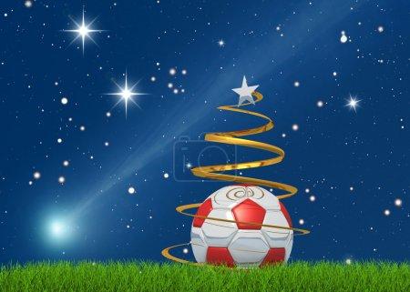 Christmas soccerball and comet