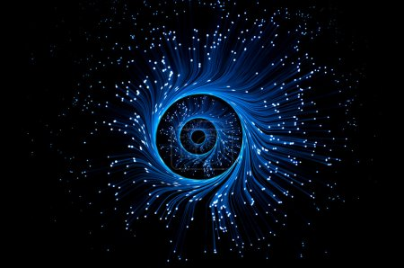 Blue telecommunications illusion