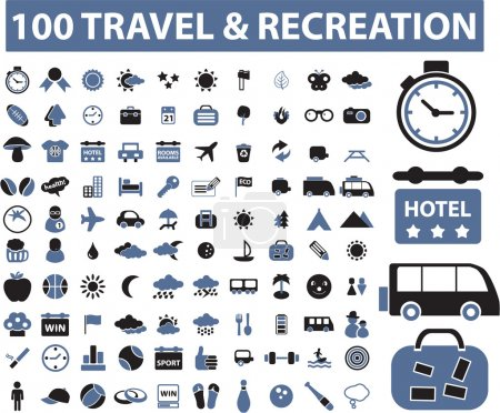 Illustration for 100 travel - Royalty Free Image