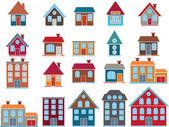 20 buildings vector