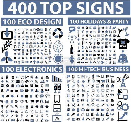 Illustration for 400 top signs - Royalty Free Image