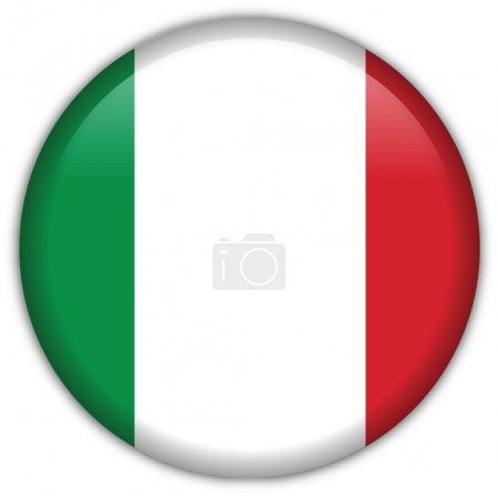 Illustration for Italy flag icon, button with official coloring - Royalty Free Image