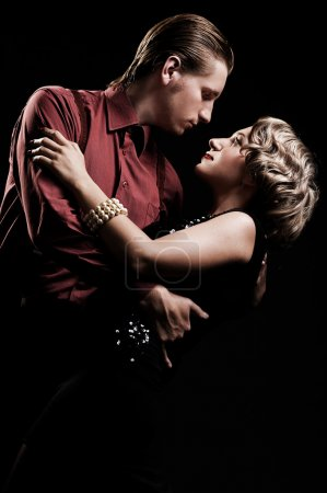 Couple in retro style dancing