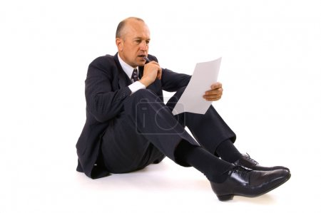 Businessman thinking about new contract