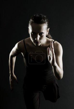 Attractive athlete running