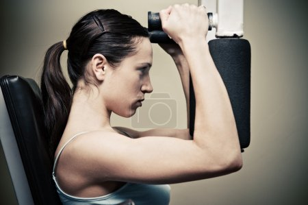 Woman workout in gym