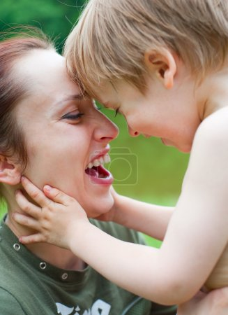 Photo for Happy mother with son laughing - Royalty Free Image