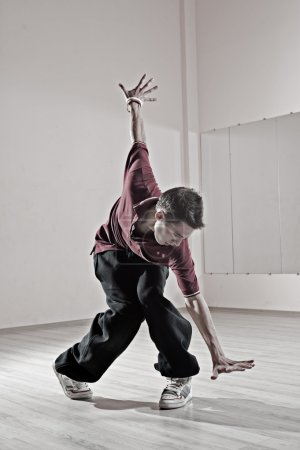 Hip-hop boy in dance studio