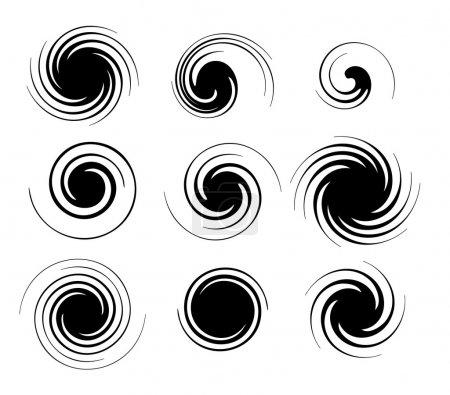Illustration for Black spirals pattern. Vector - Royalty Free Image