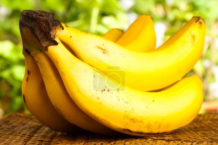 Photo for Bananas isolated on a wicker - Royalty Free Image