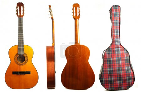 Photo for Guitars isolated on a white background - Royalty Free Image