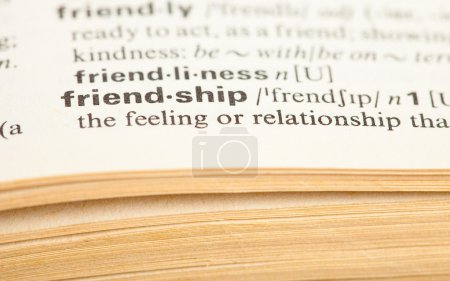 Photo for Friendship word - Royalty Free Image