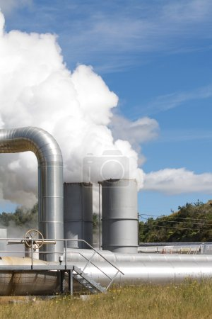 Geothermal power plant emissions