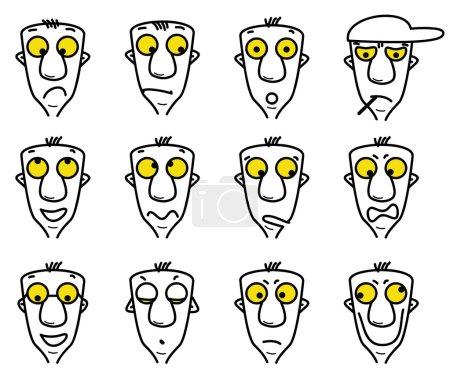 Illustration for Cartoon character avatars - Royalty Free Image