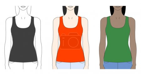 Strap tank top template