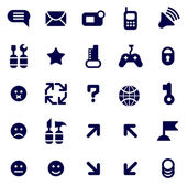 Set of pictograms of various communication issues
