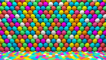 Many colored balls abstract background