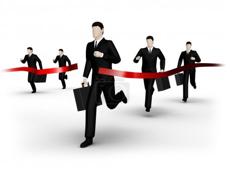 Businessman runs to finish
