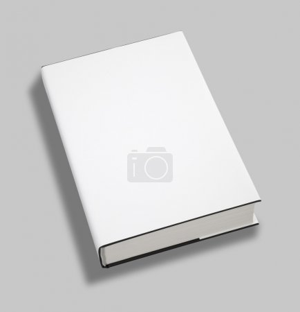 Photo for Blank book white cover w clipping path - Royalty Free Image