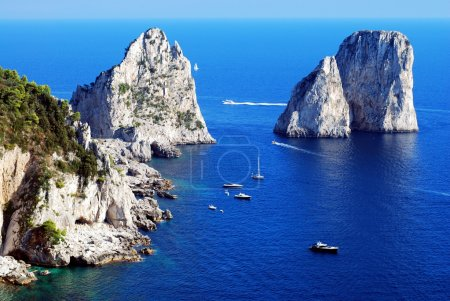 Faraglioni rocks close Capri island