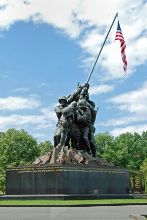 Photo for Iwo Jima Memorial in Washington DC, USA. Memorial dedicated to all personnel of United States Marine Corps who have died in defense of their country since 1775. - Royalty Free Image