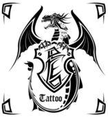 Black dragon a tattoo