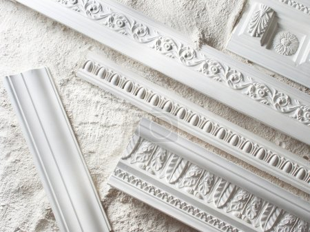 Samples of a stucco moulding