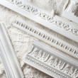 Samples of a stucco moulding...